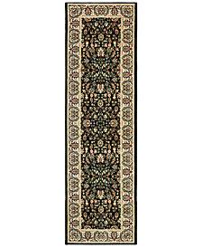 """Oriental Weavers Kashan 108B Black/Ivory 2'3"""" x 7'6"""" Runner Area Rug"""