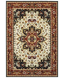 "Kashan 96W Red/Ivory 9'10"" x 12'10"" Area Rug"