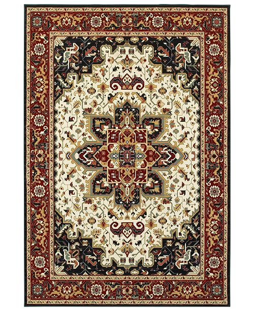 "Oriental Weavers Kashan 96W Red/Ivory 7'10"" x 10'10"" Area Rug"