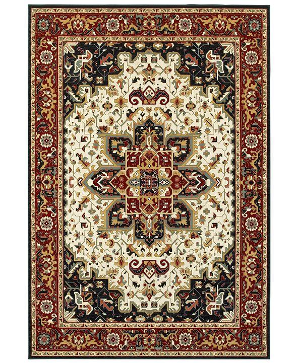 "Oriental Weavers Kashan 96W Red/Ivory 5'3"" x 7'6"" Area Rug"