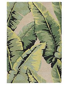 Liora Manne' Lalunita 6029 Palm Green 2' x 8' Runner Area Rug