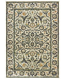 "Oriental Weavers Mantra 2060L Ivory/Gray 2'3"" x 7'6"" Runner Area Rug"