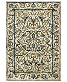 "Oriental Weavers Mantra 2060L Ivory/Gray 2'3"" x 7'6"" Runner Area Rug"