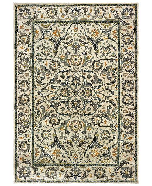"Oriental Weavers Mantra 2060L Ivory/Gray 3'10"" x 5'5"" Area Rug"