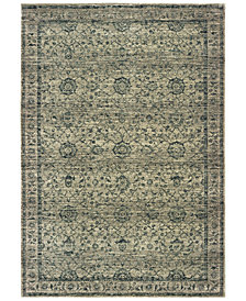 "Oriental Weavers Mantra 501L Gray/Blue 2'3"" x 7'6"" Runner Area Rug"