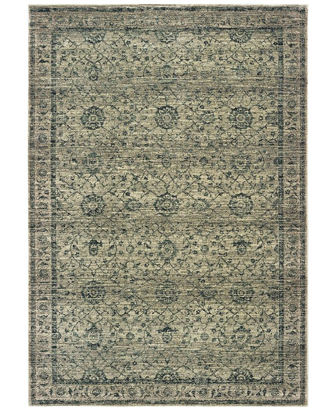 "Oriental Weavers Mantra 501L Gray/Blue 6'7"" x 9'6"" Area Rug"