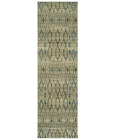 """Raleigh 1807H Ivory/Blue 2'3"""" x 7'6"""" Runner Area Rug"""