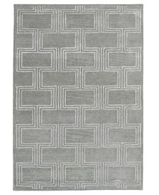 """Liora Manne' Roma 9304 Boxes 2'3"""" x 8' Runner Area Rug"""