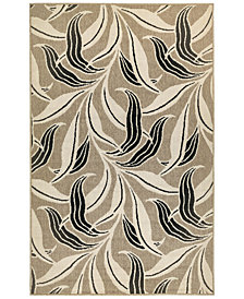 "Liora Manne' Riviera 7646 Leaf 1'11"" x 7'6"" Indoor/Outdoor Runner Area Rug"