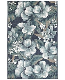 "Riviera 7649 Tropical Flower 3'3"" x 4'11"" Indoor/Outdoor Area Rug"
