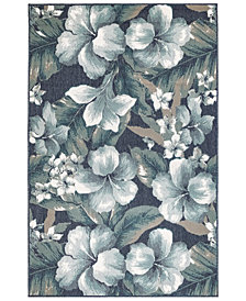 "Liora Manne' Riviera 7649 Tropical Flower 1'11"" x 7'6"" Indoor/Outdoor Runner Area Rug"