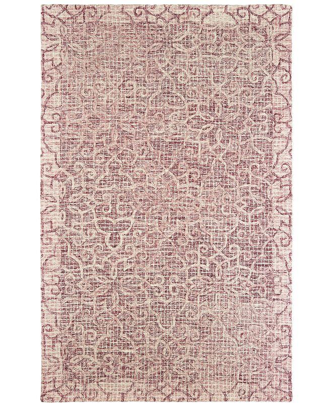 Oriental Weavers Tallavera 55601 Pink/Ivory 5' x 8' Area Rug
