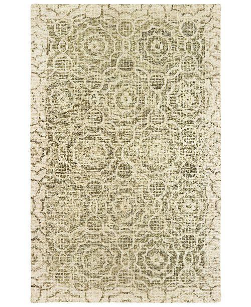 Oriental Weavers Tallavera 55606 Green/Ivory 5' x 8' Area Rug