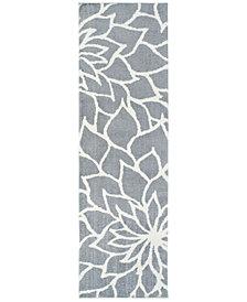 "Oriental Weavers Verona Shag 2061L Gray/Ivory 2'3"" x 7'6"" Runner Area Rug"