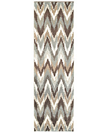 "Oriental Weavers Verona Shag 4D Gray/Taupe 2'3"" x 7'6"" Runner Area Rug"