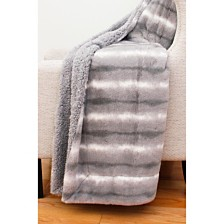 "Mandy Faux Fur Decorative Throw, 50"" x 60"""