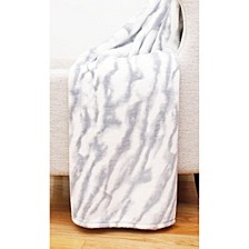 "Taiga Marble Loft Fleece Decorative 50"" x 60"""