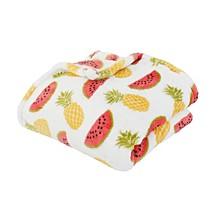 "Priscilla Pineapple & Watermelon Printed Loft Fleece Decorative 50"" x 60"""