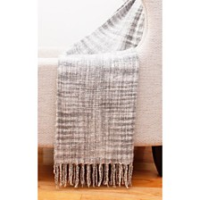 "Cerin Mohair Fringe Decorative Throw, 50"" x 60"""