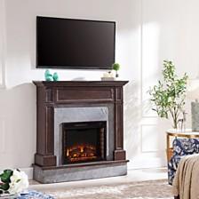 Braswell Stone Media Fireplace