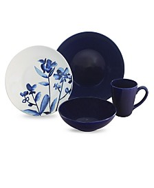 Baum Lapis Fields 16 Piece Dinnerware Set