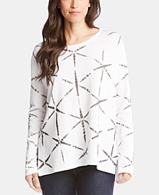 Karen Kane Printed High-Low Long-Sleeve Top