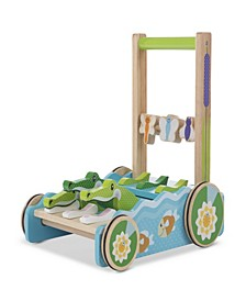 Melissa & Doug First Play Chomp and Clack Alligator Wooden Push Toy and Activity Walker