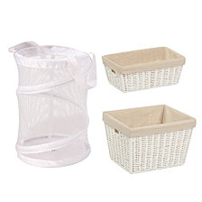 Honey Can Do Bathroom Essentials 3-Pc. Set