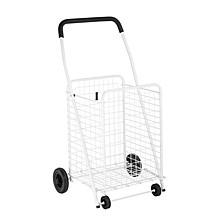 White Four Wheel Utility Cart