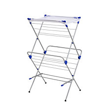 Honey Can Do 2-Tier Folding Drying Rack with Mesh Top