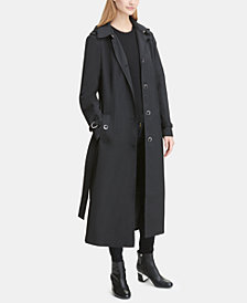 DKNY Belted Maxi Raincoat, Created for Macy's