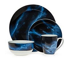 Godinger Carerra Blue 16-PC Dinnerware Set, Service for 4