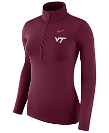 Nike Women's Virginia Tech Hokies Hyperwarm Quarter-Zip Pullover
