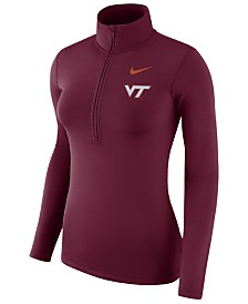 Nike Women's Virginia Tech Hokies Hyperwarm Quarter-Zip Pullover