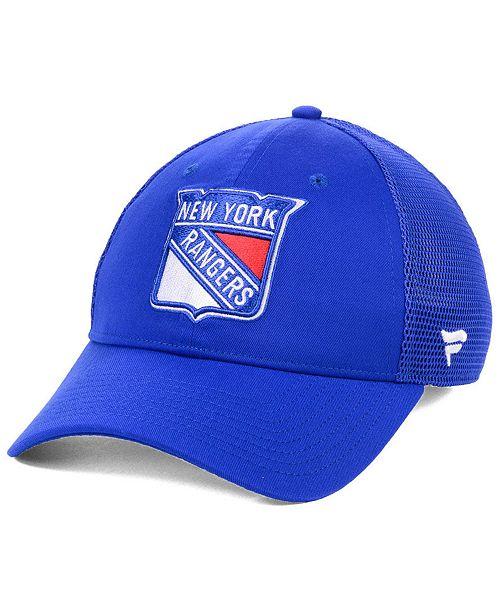 168ffb15012 ... Authentic NHL Headwear Fanatics New York Rangers Elevated Core Trucker Snapback  Cap ...
