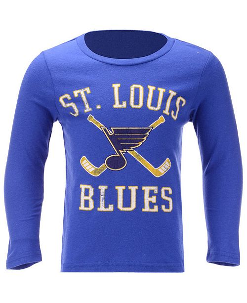 4fcf2af4 Outerstuff St. Louis Blues Lines Crossed Long Sleeve T-Shirt, Toddler Boys (