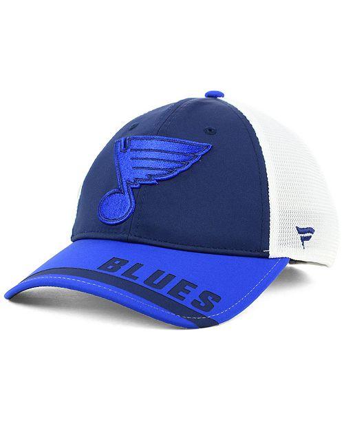 new arrival 40388 fede5 Authentic NHL Headwear Fanatics St. Louis Blues Iconic Tech ...