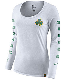 Nike Women's Boston Celtics City Edition Marled Long Sleeve T-Shirt