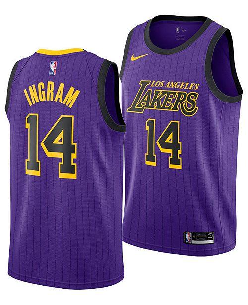 newest collection 3efa1 a7447 Nike Men's Brandon Ingram Los Angeles Lakers City Swingman ...