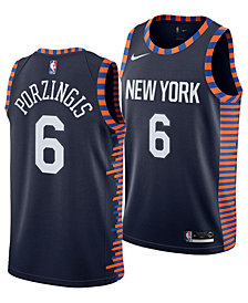Nike Kristaps Porzingis New York Knicks City Edition Swingman Jersey 2018, Big Boys (8-20)