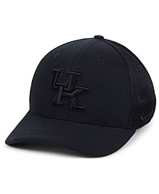 Nike Kentucky Wildcats Aerobill Black Swoosh Stretch Fitted Cap