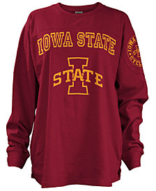 Pressbox Women's Iowa State Cyclones Long Sleeve Boyfriend T-Shirt