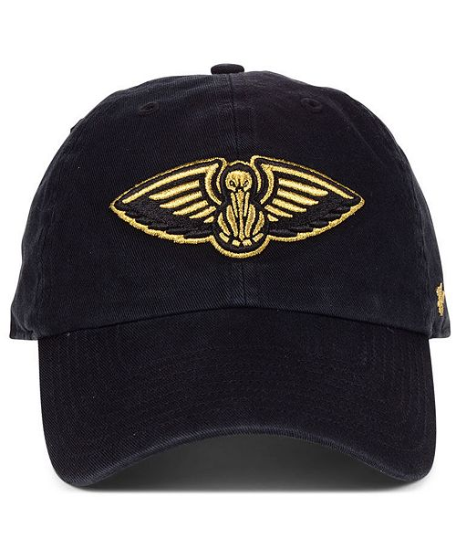 18d1ac4f9 47 Brand New Orleans Pelicans Met Gold CLEAN UP Cap & Reviews ...