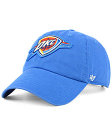 '47 Brand Women's Oklahoma City Thunder Glitta CLEAN UP Strapback Cap