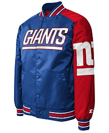 G-III Sports Men's New York Giants Starter Dugout Playoff Satin Jacket