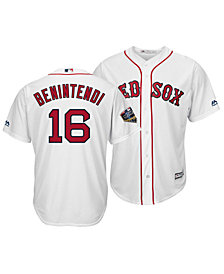 Majestic Men's Andrew Benintendi Boston Red Sox 2018 World Series Patch Player Cool Base Jersey