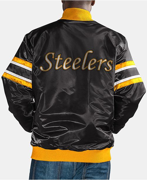 quality design c9e90 e7f55 G-III Sports Men's Pittsburgh Steelers Retro Varsity Jacket ...