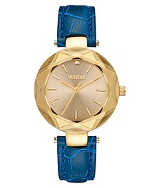 Ladies Blue Synthetic Leather Sport Watch, 30MM