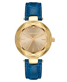Unlisted Ladies Blue Synthetic Leather Sport Watch, 30MM