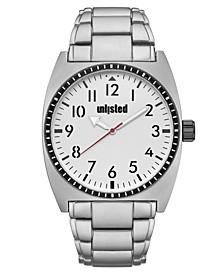 Men's Silvertone Alloy Sport Watch, 46MM